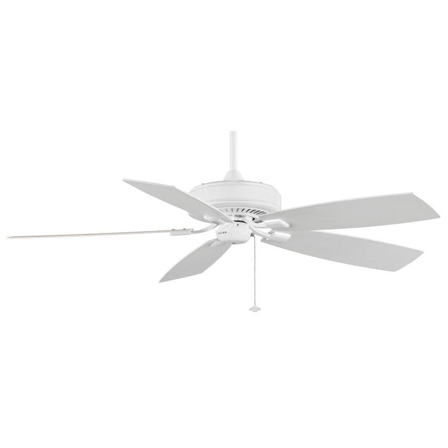 Fanimation Edgewood Deluxe 60-in White Indoor Downrod Mount Ceiling Fan ENERGY STAR