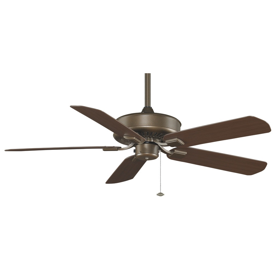 Fanimation Edgewood 50-in Aged bronze Indoor/Outdoor Downrod Mount Ceiling Fan ENERGY STAR