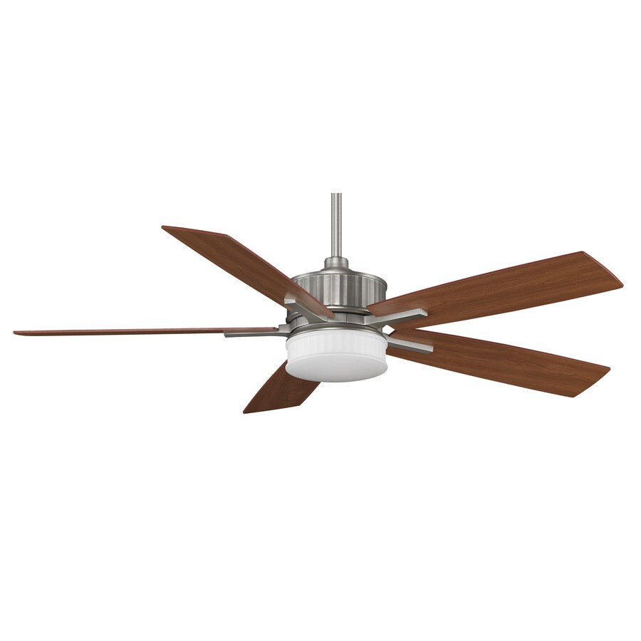 Fanimation Landan 60-in Bronze Downrod Mount Indoor Ceiling Fan with Integrated Light Kit and Remote