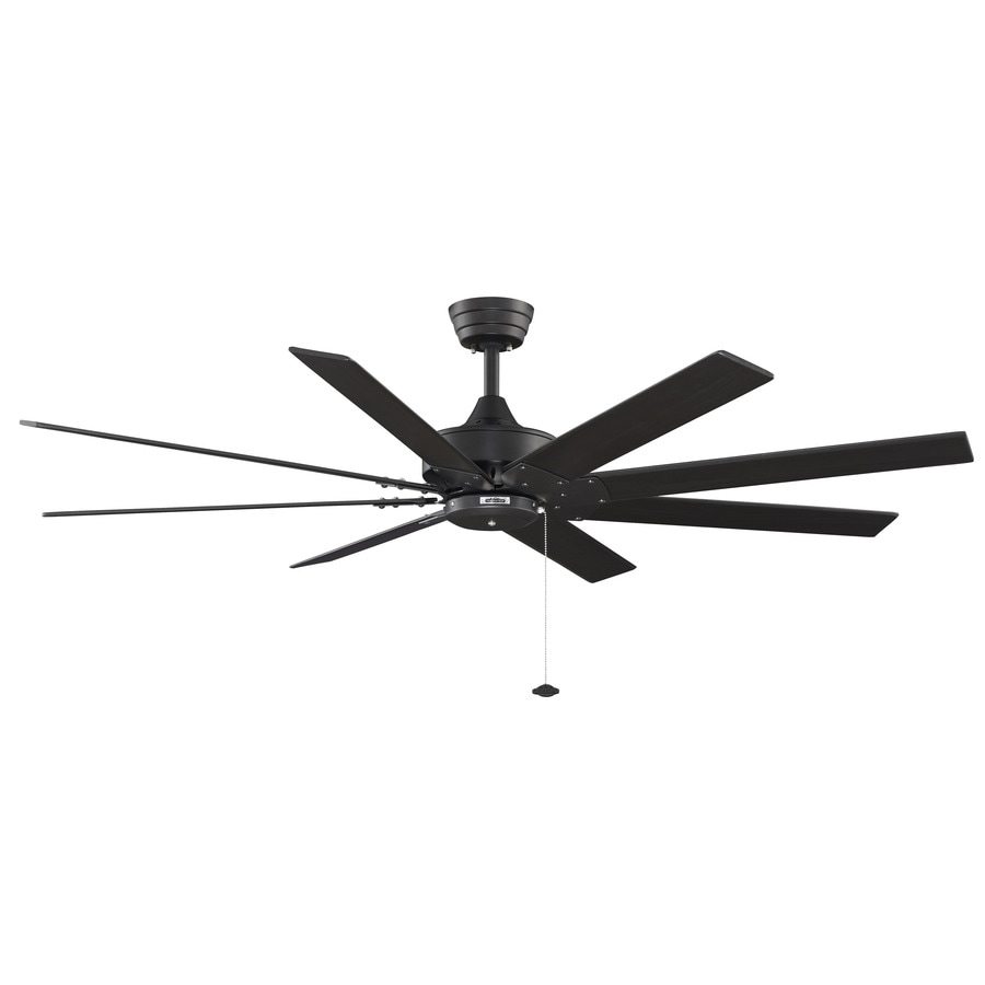 Fanimation Landan 60-in Satin Nickel Downrod Mount Indoor Ceiling Fan with LED Light Kit and Remote