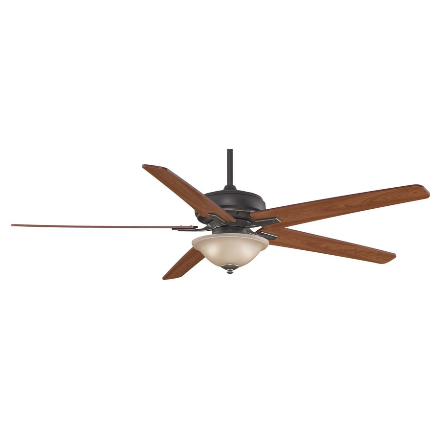 Fanimation Keistone 60-in Pewter Downrod Mount Indoor Ceiling Fan with Light Kit and Remote
