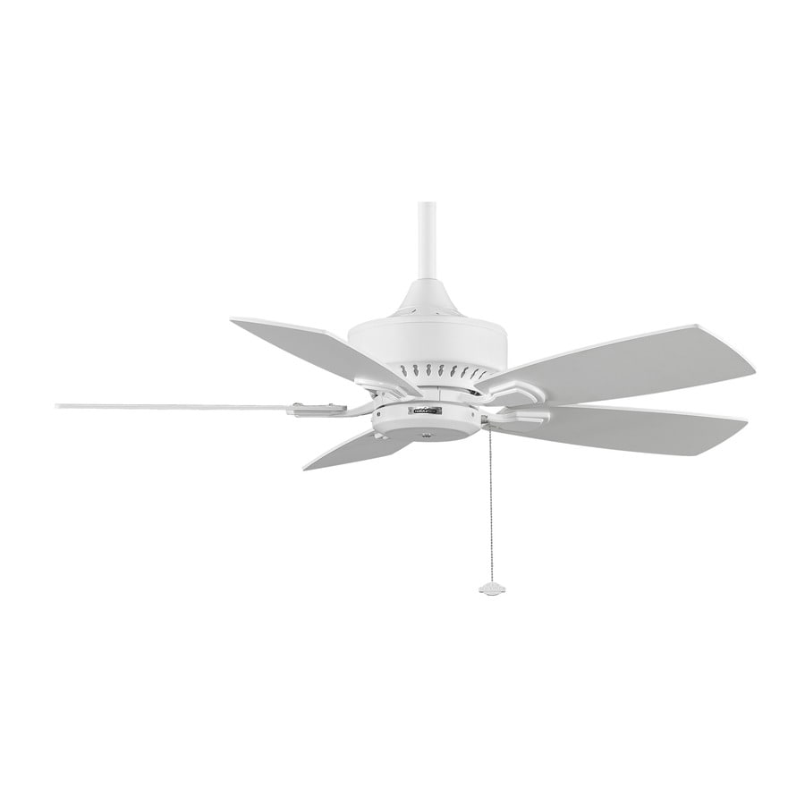 white ceiling fans shop fanimation cancun 42 in white indoor outdoor downrod 11554