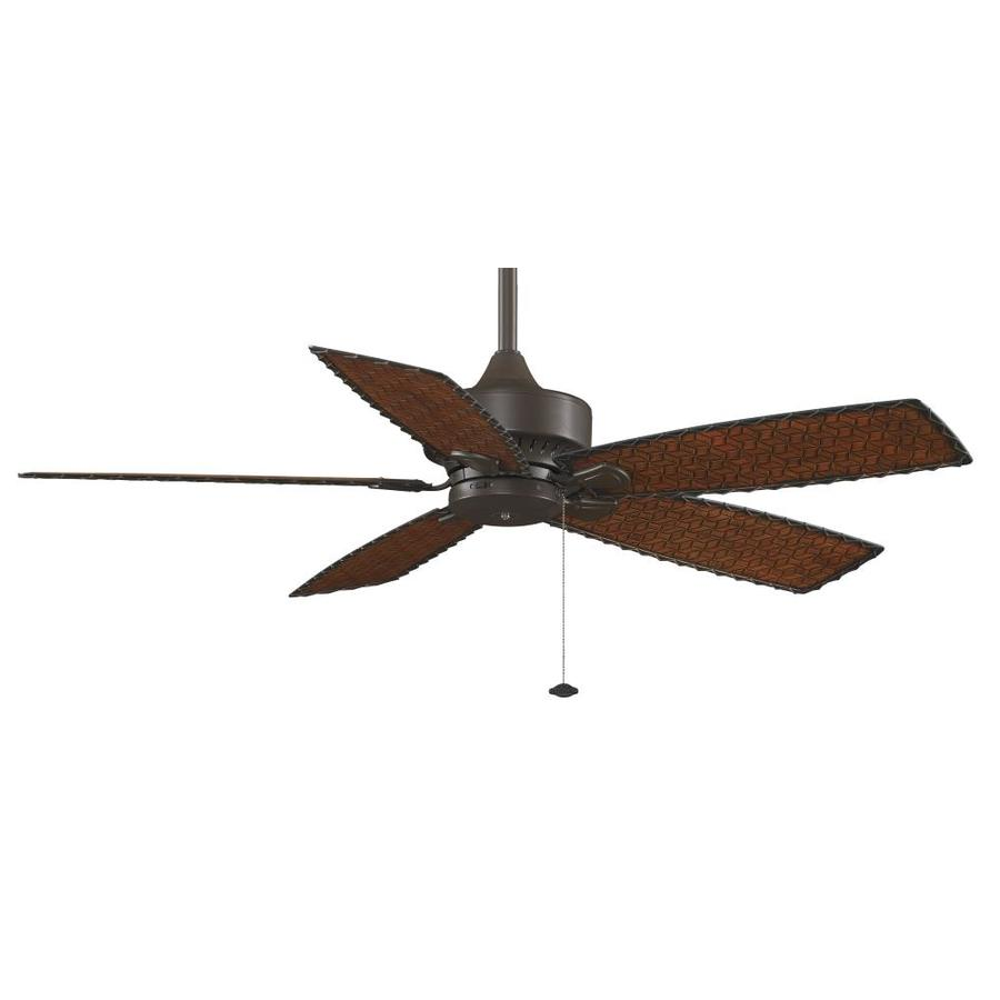 Fanimation Cancun Wet Location 52-in Oil-Rubbed Bronze Downrod Mount Indoor/Outdoor Ceiling Fan ENERGY STAR