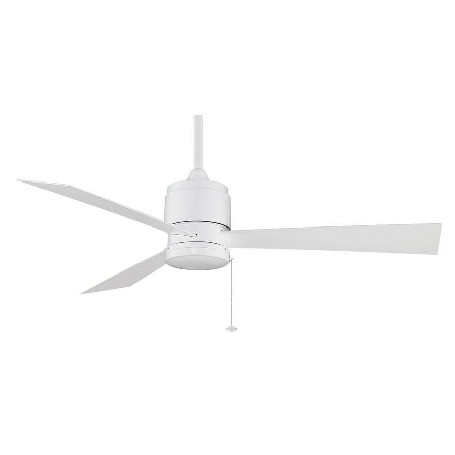 Fanimation Zonix Wet Location 52-in White Downrod Mount Indoor/Outdoor Ceiling Fan (3-Blade) ENERGY STAR