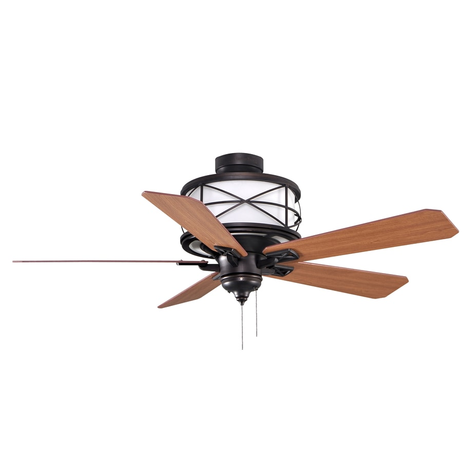 allen + roth 52-in Sonning Aged Bronze Ceiling Fan with Light Kit