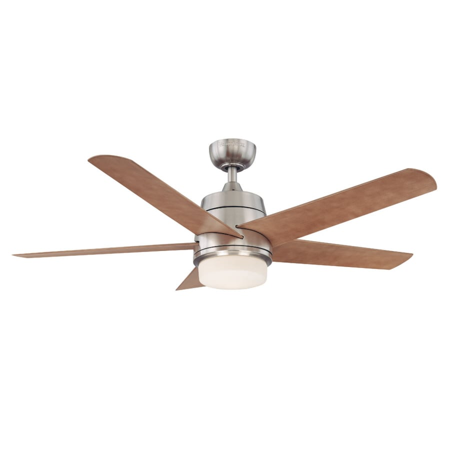 harbor breeze 52in teolo brushed nickel ceiling fan with light kit