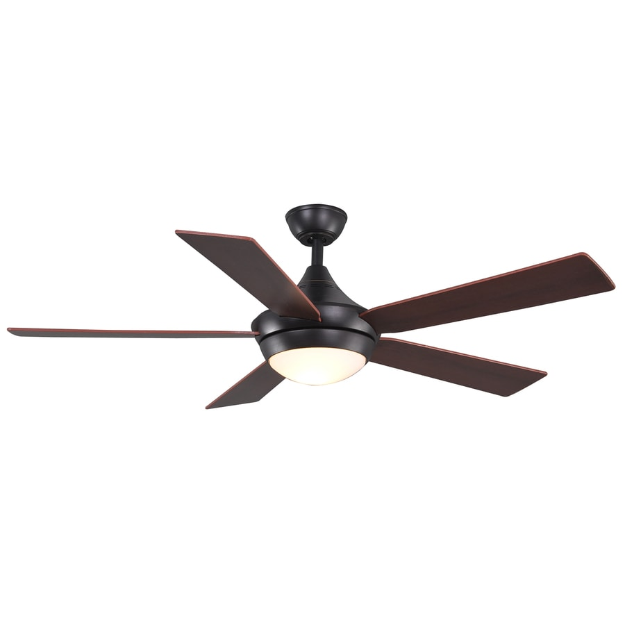 Allen Roth Portes 52 In Aged Bronze Downrod Mount Indoor Ceiling Fan With Light