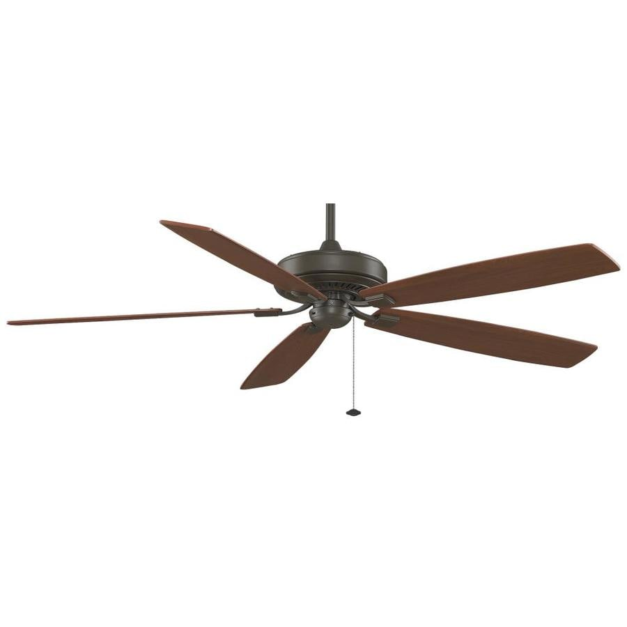 Fanimation Edgewood Supreme 72-in Oil-Rubbed Bronze Indoor Downrod Mount Ceiling Fan ENERGY STAR