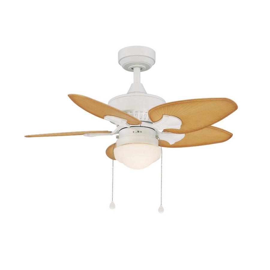 Shop Harbor Breeze 36 Quot Southlake White Ceiling Fan At