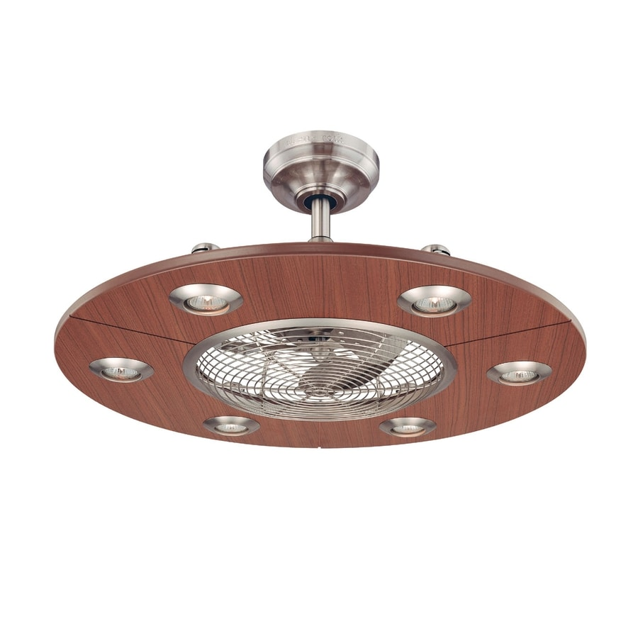 "shop allen + roth 28"" dexter contemporary brushed nickel ceiling"