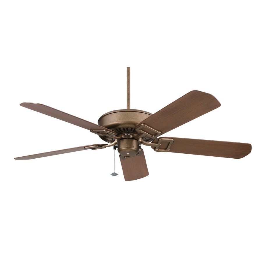 Fanimation Edgewood 50-in Aged Bronze Outdoor Downrod Mount Ceiling Fan ENERGY STAR