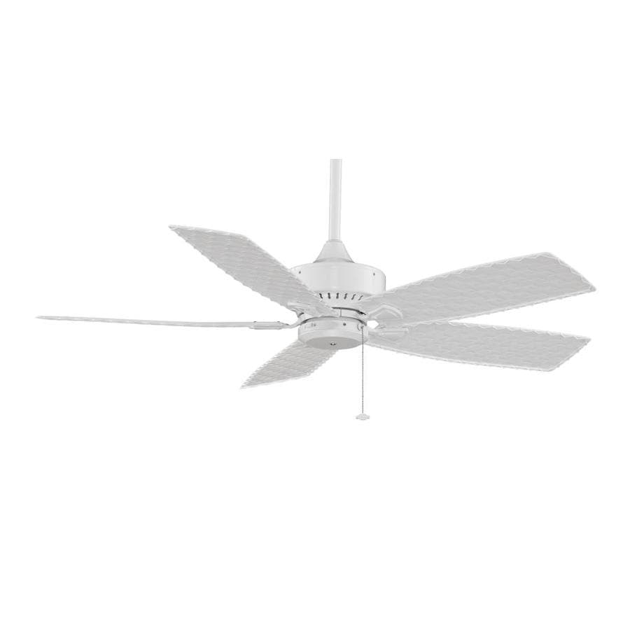 Fanimation Cancun Wet 52-in White Downrod Mount Indoor/Outdoor Ceiling Fan ENERGY STAR