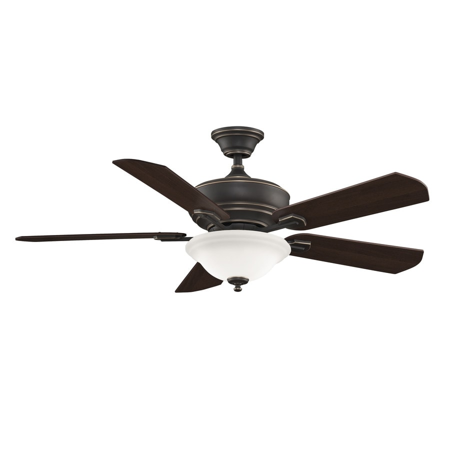 Fanimation Camhaven 52-in Bronze Downrod Mount Indoor Ceiling Fan with Light Kit and Remote