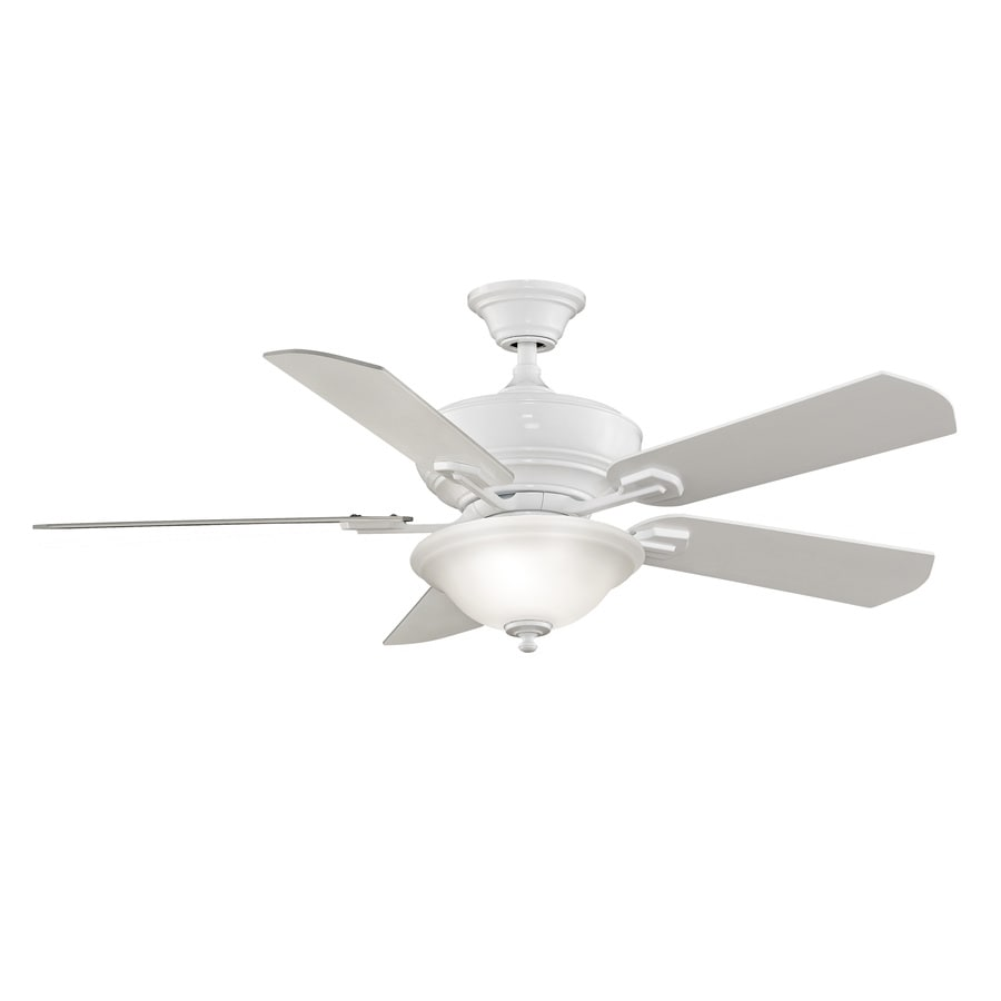 Fanimation Camhaven 52-in White Indoor Downrod Mount Ceiling Fan with Light Kit and Remote