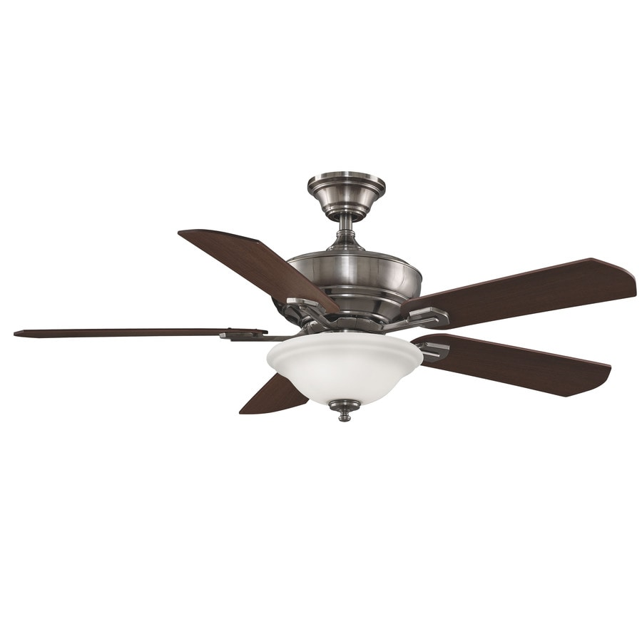 Fanimation Camhaven 52-in Pewter Downrod Mount Indoor Ceiling Fan with Light Kit and Remote