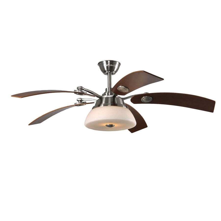 Harbor Breeze Chennai 52-in Brushed Nickel Downrod Mount Indoor Ceiling Fan with Light Kit and Remote
