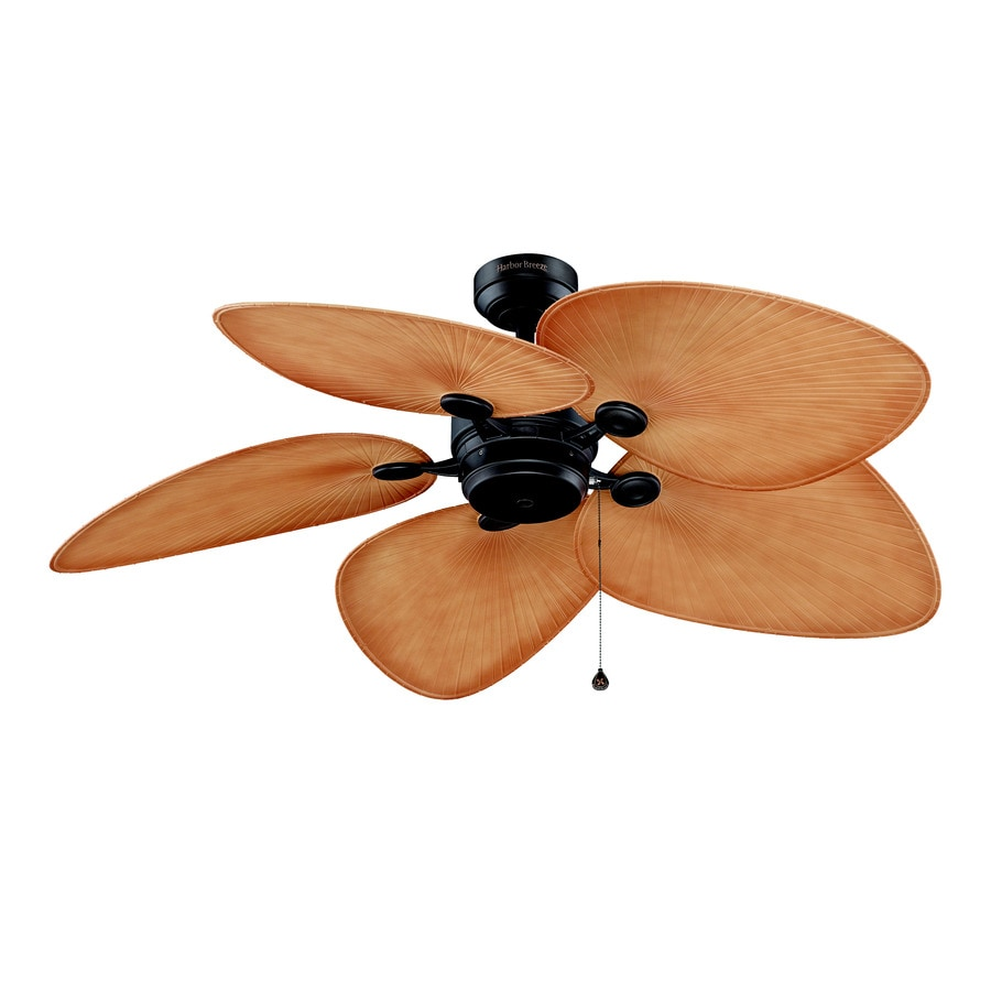 Harbor Breeze Freeport 52-in Bronze Downrod Mount Indoor/Outdoor Ceiling Fan ENERGY STAR