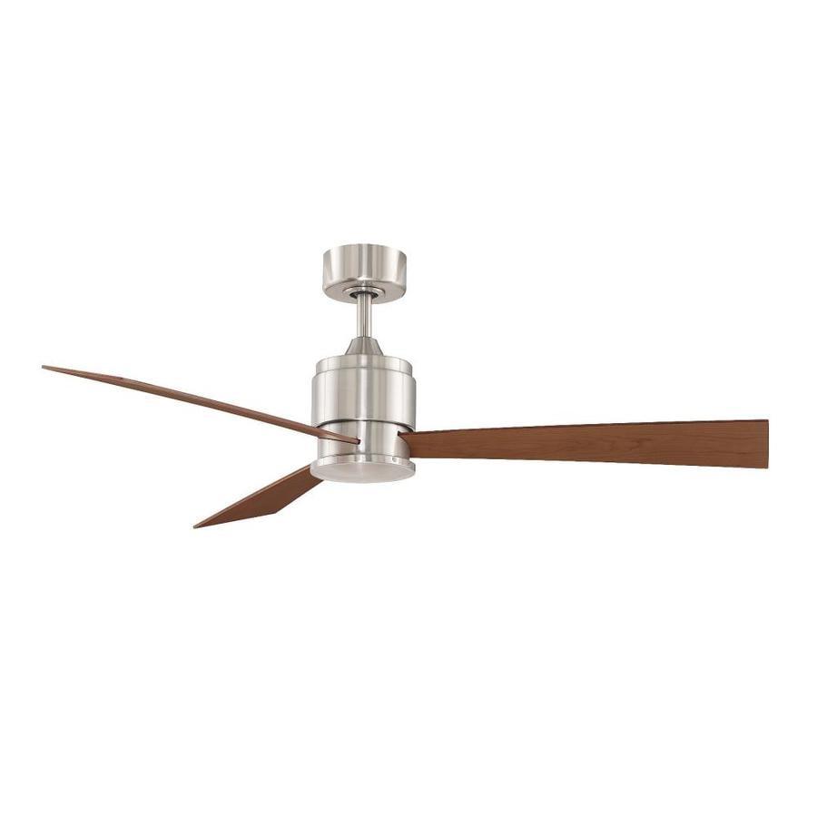Fanimation Zonix 54-in Brushed Nickel Indoor Downrod Mount Ceiling Fan (3-Blade)
