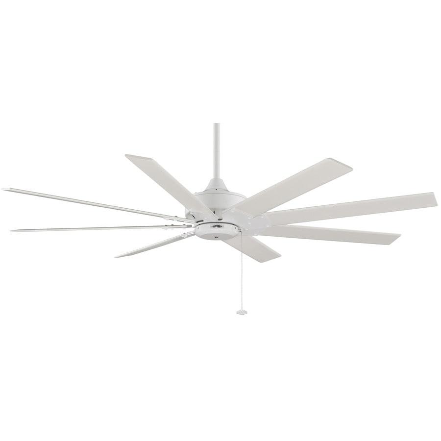 Fanimation Levon 63-in Matte White Downrod Mount Indoor Residential Ceiling Fan (8-Blade) ENERGY STAR