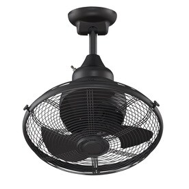 Shop indooroutdoor ceiling fans at lowes fanimation extraordinaire 18 in black indooroutdoor downrod mount ceiling fan and remote aloadofball Choice Image