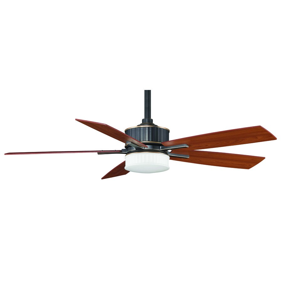 Fanimation Keistone 60-in Pewter Downrod Mount Indoor Ceiling Fan with Remote