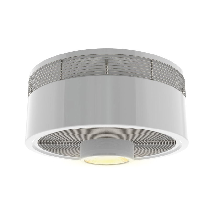 Shop harbor breeze hive series 18 in white flush mount indoor harbor breeze hive series 18 in white flush mount indoor ceiling fan with light kit mozeypictures Gallery