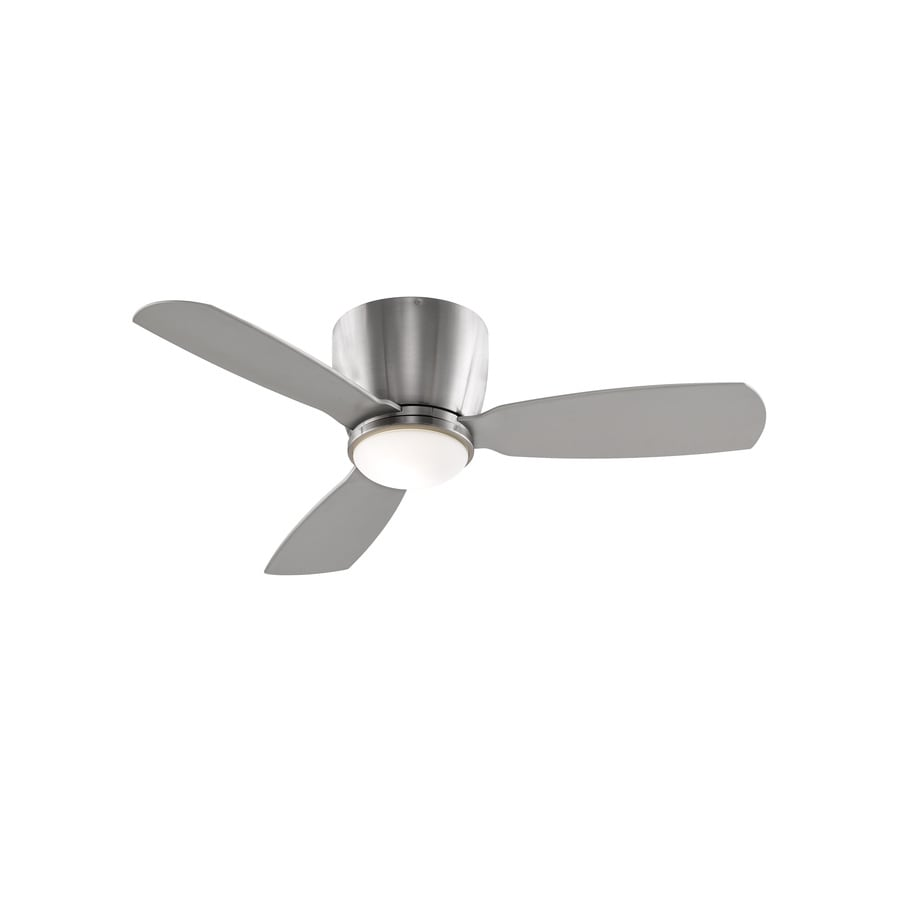 Fanimation Embrace 44 In Brushed Nickel Flush Mount Indoor Ceiling Fan With Light Kit And
