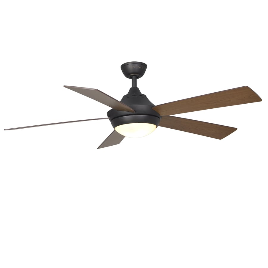 Harbor Breeze Platinum Portes 52-in Aged bronze Indoor Downrod Mount Ceiling Fan with Light Kit and Remote