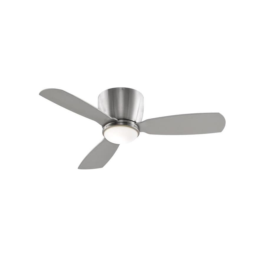 Fanimation Embrace 44-in Brushed Nickel Indoor Flush Mount Ceiling Fan with Light Kit and Remote (3-Blade)
