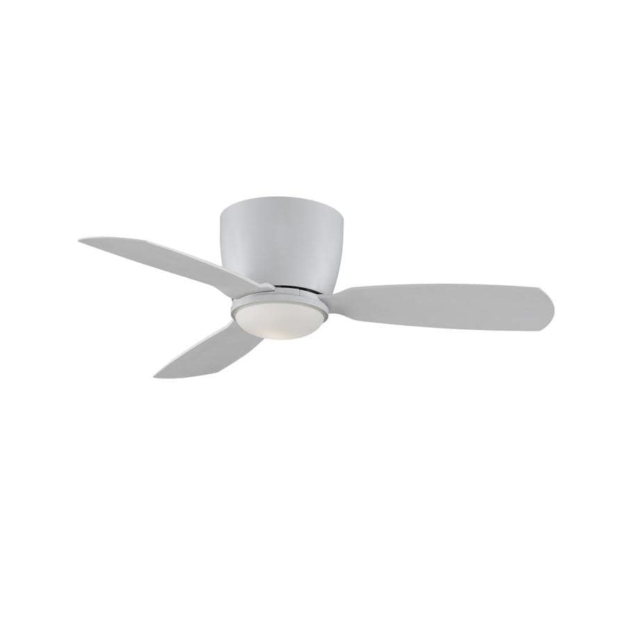 Shop fanimation embrace 44 in matte white indoor flush Ceiling fans no light