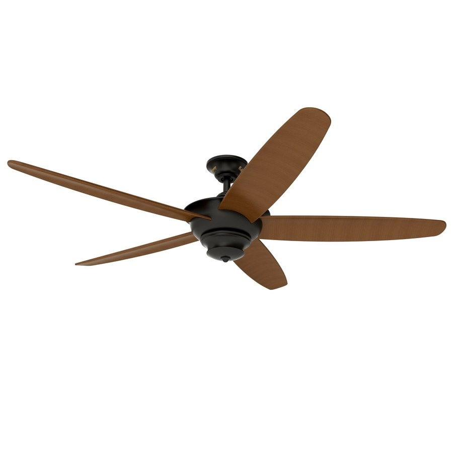 Harbor Breeze Lake Lagoda 60-in Aged Bronze Downrod Mount Indoor/Outdoor Residential Ceiling Fan with Remote