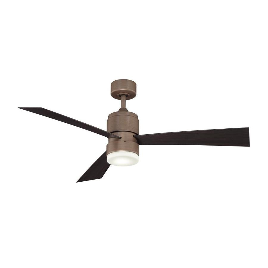 Fanimation Zonix LED 54-in Dark Copper Penny Integrated LED Indoor/Outdoor Downrod Mount Ceiling Fan with Light Kit and Remote (3-Blade)