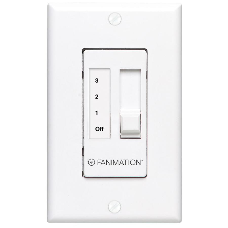 Fanimation White Wall-mount Ceiling Fan Remote Control