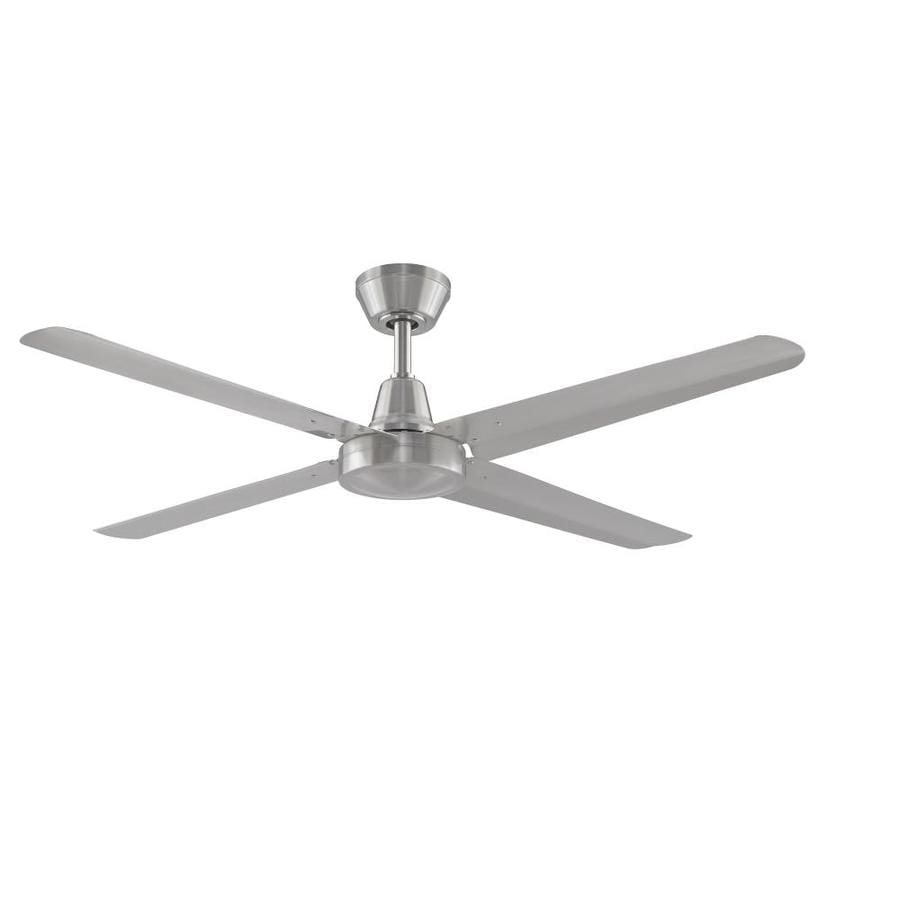 Fanimation Ascension 54-in Brushed Nickel Indoor/Outdoor Downrod Mount Ceiling Fan (4-Blade) ENERGY STAR