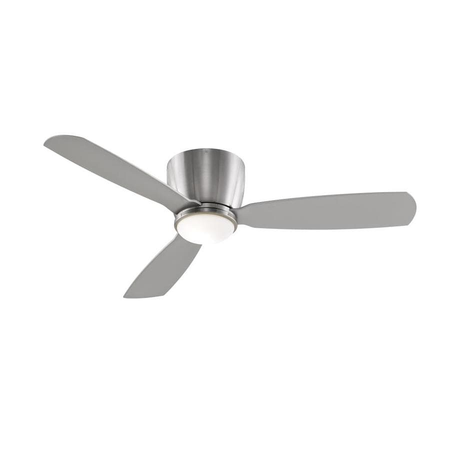 Fanimation Embrace 52 52-in Brushed Nickel Indoor Flush Mount Ceiling Fan with Light Kit and Remote (3-Blade)