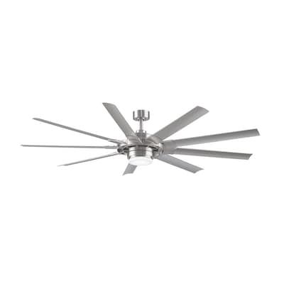 Slinger v2 72-in Brushed Nickel LED Indoor/Outdoor Commercial/Residential on