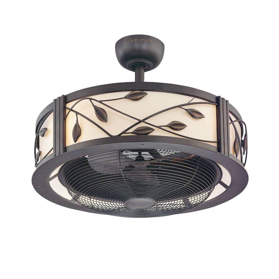 Fanimation Studio Collection Eastview 23-in Dark bronze Indoor Downrod  Mount Ceiling Fan with Light - Shop Ceiling Fans At Lowes.com