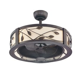 Fanimation Eastview 23 In Dark Bronze Indoor Downrod Mount Ceiling Fan With Light Kit And