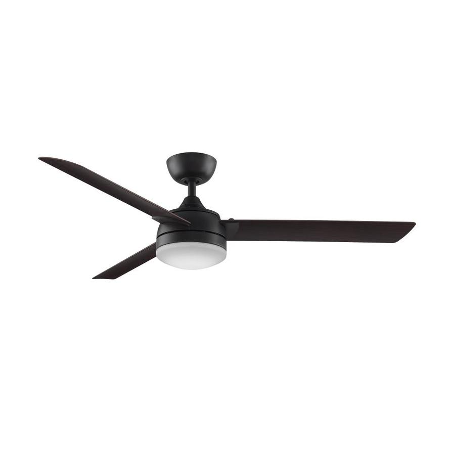 Fanimation Xeno 56-in Dark Bronze Integrated LED Indoor/Outdoor Downrod Mount Ceiling Fan with Light Kit and Remote (3-Blade) ENERGY STAR