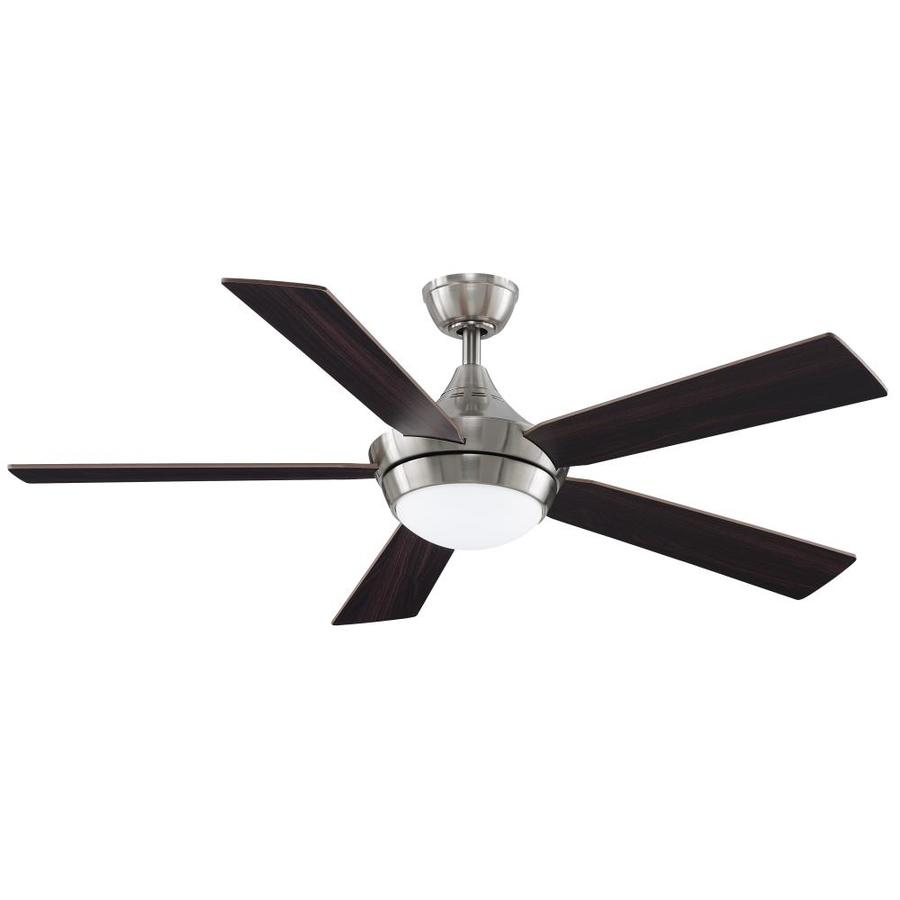 Fanimation Celano V2 52-in Brushed Nickel Integrated LED Indoor Downrod Mount Ceiling Fan with Light Kit and Remote ENERGY STAR