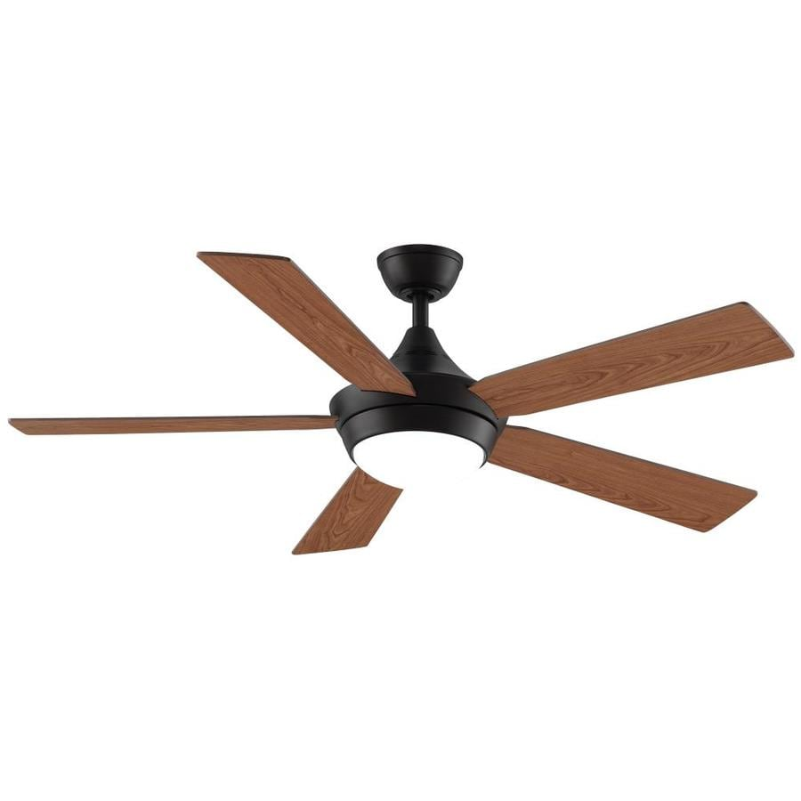 Fanimation Celano V2 52-in Dark Bronze Integrated LED Indoor Downrod Mount Ceiling Fan with Light Kit and Remote ENERGY STAR