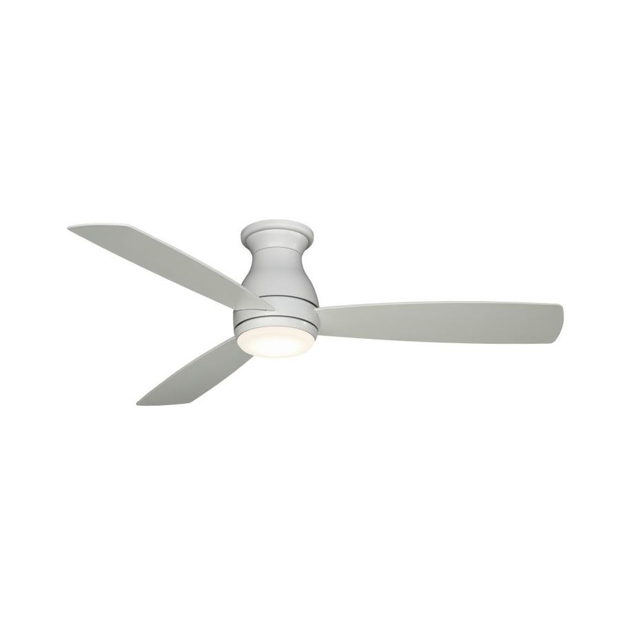Ceiling Fan Mount : Shop fanimation hugh in matte white integrated led