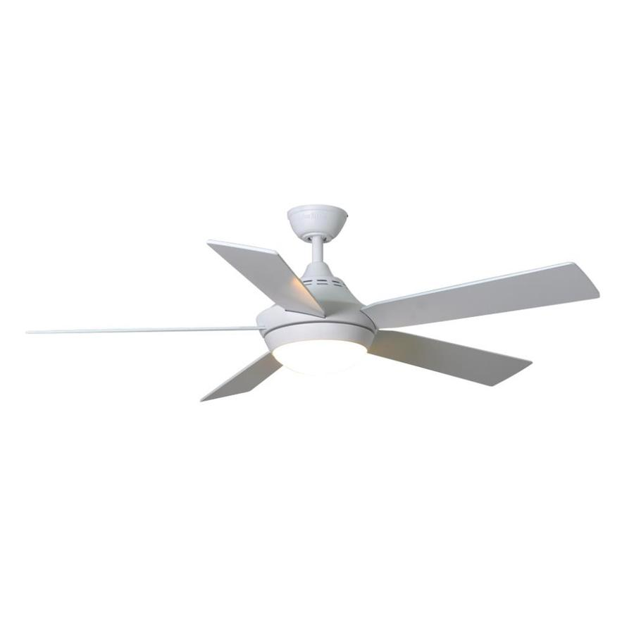 Harbor Breeze Platinum Portes 52-in Matte White Indoor Downrod Mount Ceiling Fan with Light Kit and Remote