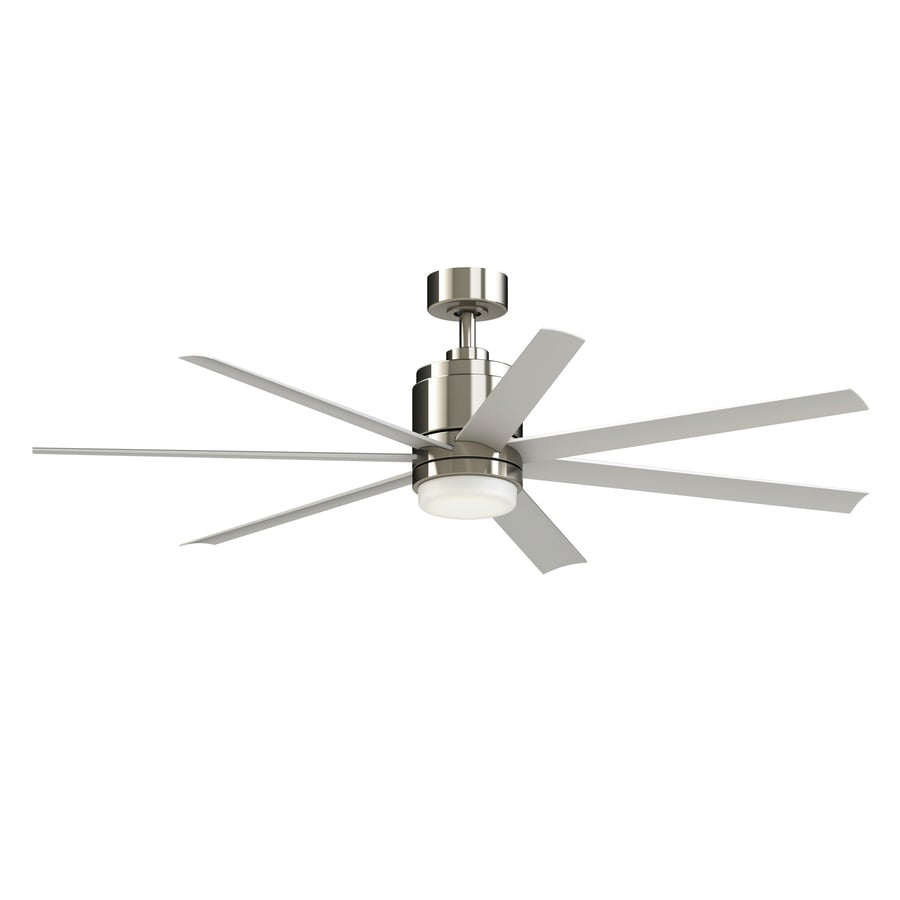 Shop fanimation studio collection blitz 56 in brushed nickel led fanimation studio collection blitz 56 in brushed nickel led indooroutdoor downrod mount ceiling aloadofball Images