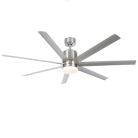 Fanimation Studio Collection Blitz 56 In Brushed Nickel Led Indoor Outdoor Ceiling Fan With