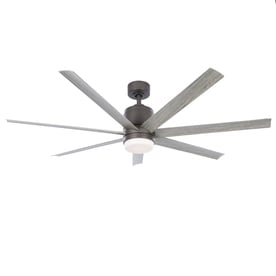 Fanimation Studio Collection Blitz 56 In Matte Greige Led Indoor Outdoor Downrod Ceiling Fan