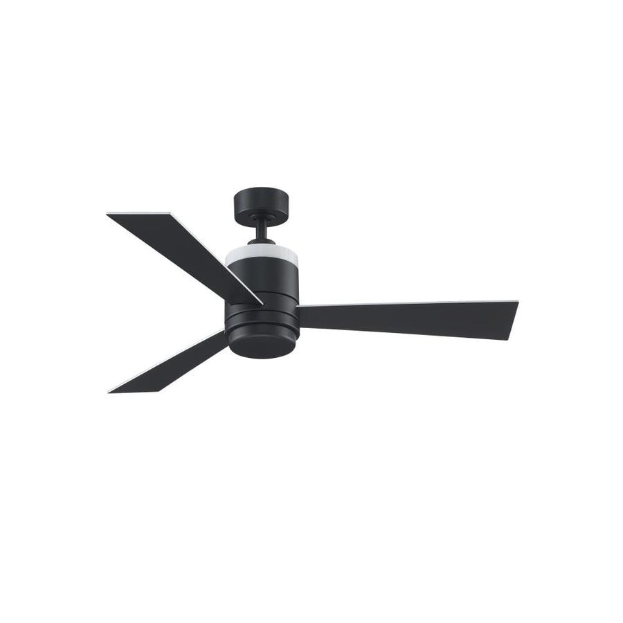 Tropical Ceiling Fans Lowes Ceiling Fan Remote Ceiling: Fanimation Studio Collection Upright 48-in Black LED