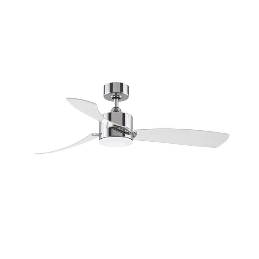 Fanimation Sculptaire 52 In Chrome Led Indoor Outdoor Smart Ceiling Fan With Light And Remote 3 Blade In The Ceiling Fans Department At Lowes Com