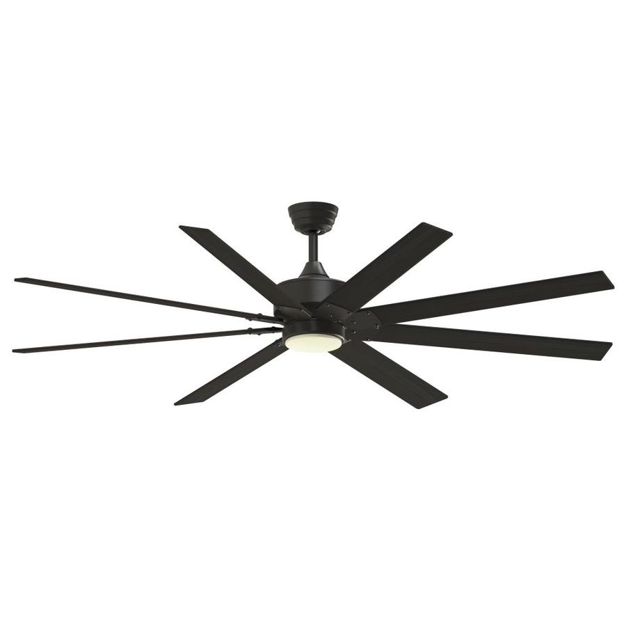 Fanimation Levon Custom Dark Bronze 72 In Led Indoor Outdoor Ceiling Fan 8 Blade In The Ceiling Fans Department At Lowes Com