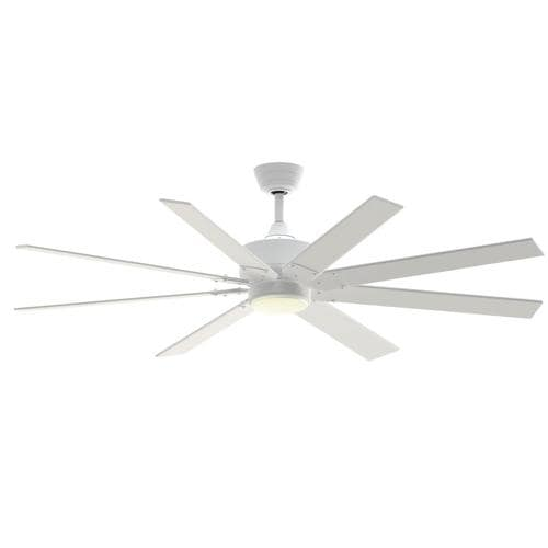 Ceiling Fans From Lowes: Fanimation Levon Custom 64-in Matte White LED Indoor